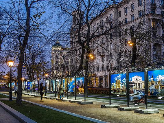 Москва Тверской бульвар вечером