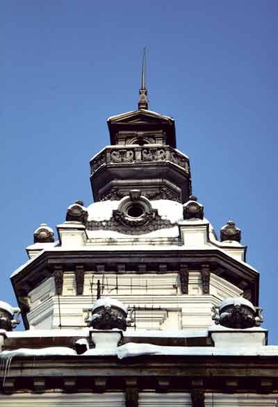 Башня главного дома усадьбы Грачевка в Ховрине. Фото 1990-х годов