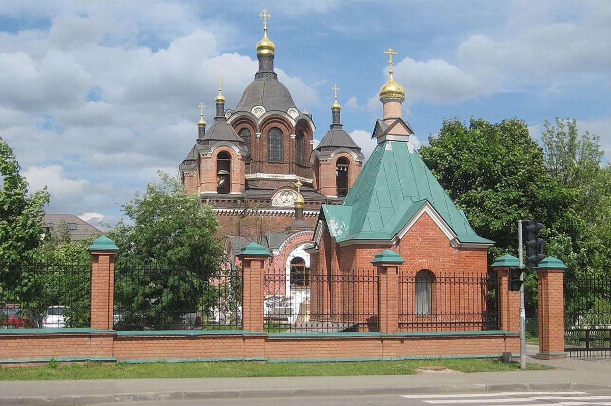церковь иконы Божией Матери Знамение по проекту архитектора М.Д. Быковского.1870г